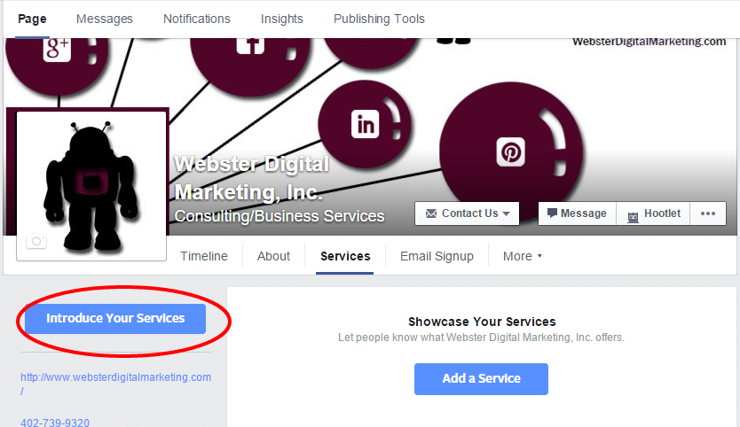 Introduce your Facebook Services